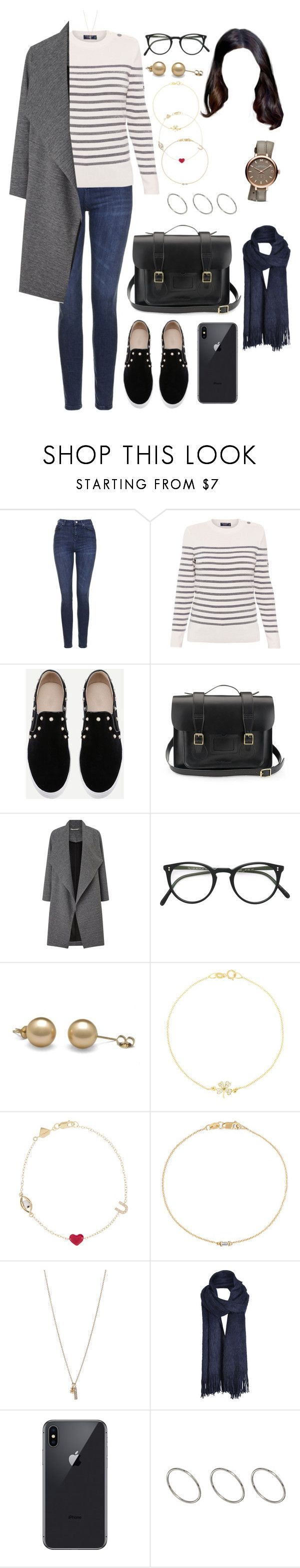 """""""PAR (all day/work)"""" by ittgirl ❤ liked on Polyvore featuring Topshop, Saint James, Dr. Martens, Miss Selfridge, Oliver Peoples, Jennifer Meyer Jewelry, Alison Lou, Ileana Makri, Minor Obsessions and ONLY"""