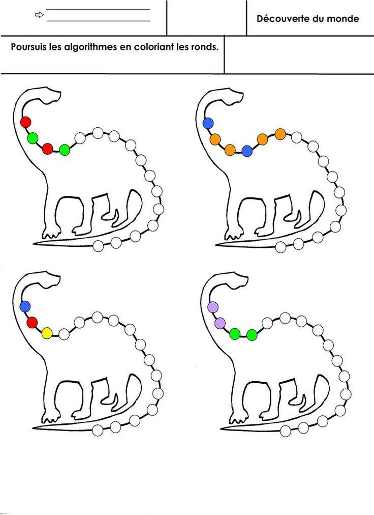 de type AB, ABB, ABC, AABB Version noir et blanc pour choisir les couleurs Version en couleurs  - algo-dino.jpg  - algo-dino-couleurs.docx  - algo-dino-couleurs.pdf  - algo-dino.docx  - algo-dino.pdf