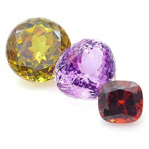Gemstones by Color: Amethyst, Zircon, Citrine. More @ www.multicolour.com and #gemstones