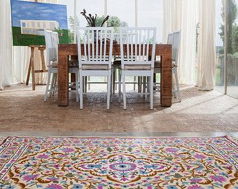 Fl Area Rugs 4x6 Rug 5x8 Pink