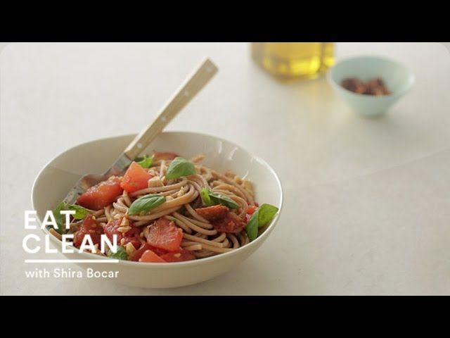 No Cook: Tomato Sauce with Farro Spaghetti and Marcona Almonds ...
