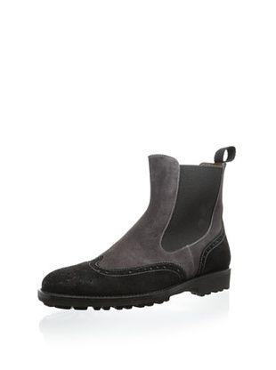 75% OFF Gordon Rush Men's Zander Two-Toned Chelsea Boot (Black/Lavagne)