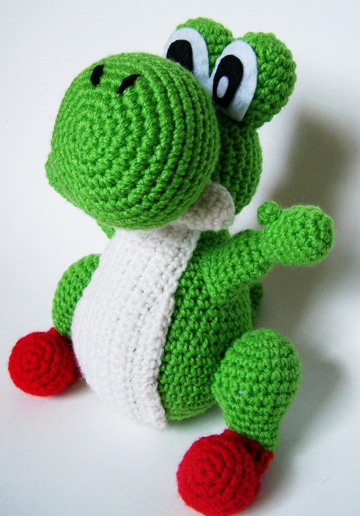 Crochet amigurumi yoshi doll for sale my crafting for Yoshi plush template