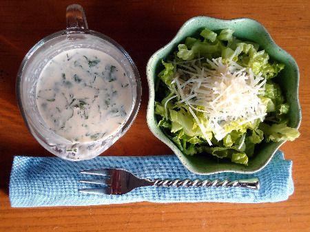 Recipe: Gluten Free Creamy Parmesan Dressing  http://wheatfreemom.com/blog/omaine-salad-with-creamy-parmesan-dressing/