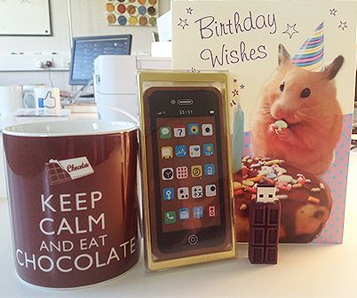 Happy Birthday Bookry founder Rhys! You can never have too many chocolate related novelties as gifts :-) Enjoy!