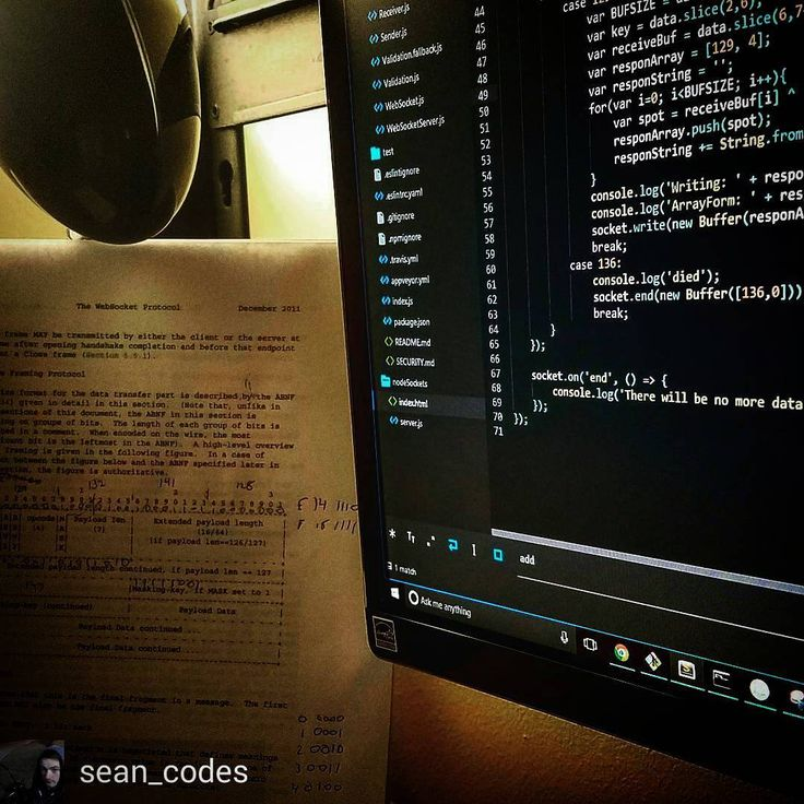 """""""Rolling my own Websocket server using Node.JS following the RFC 6455 protocol. No libraries yet. Networking for the game engine on the way! :]"""" by @sean_codes  #javascript #node #nodejs #webdev #webdeveloper #webdevelopment #developer #programming #programming #sublimetext #gamedev"""
