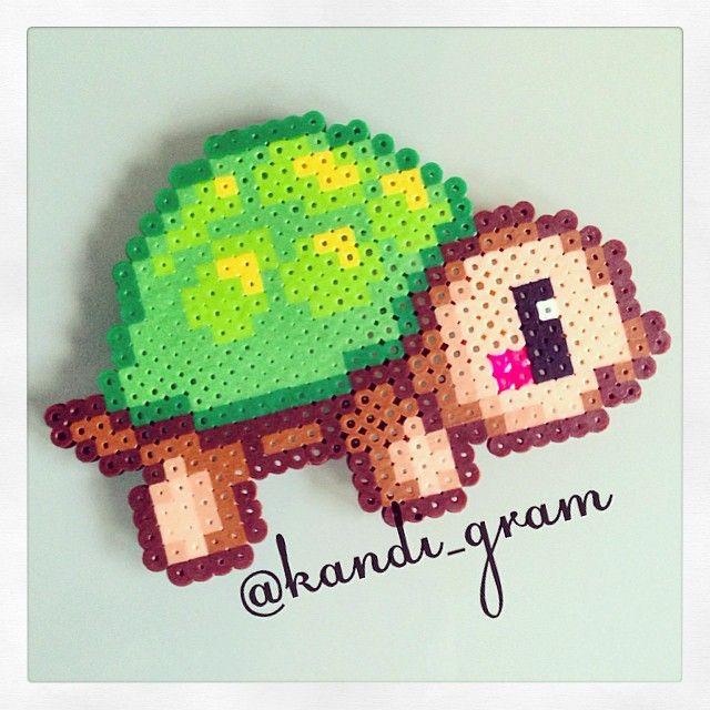 Turtle perler beads by kandi_gram