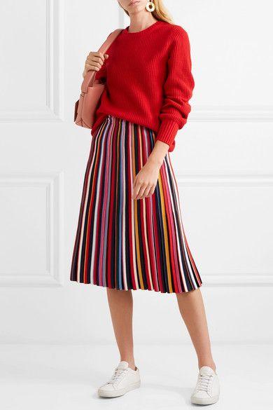 aa1f4648d Tory Burch | Ellis pleated stretch-knit midi skirt | NET-A-PORTER.COM