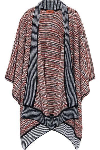Missoni - Crochet-knit Wool-blend Wrap - Navy