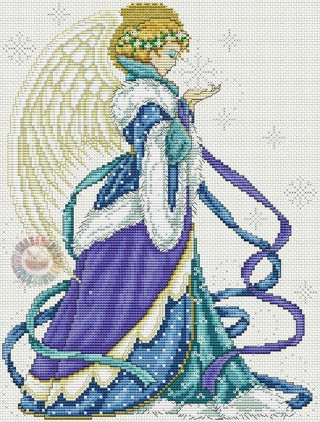 Рождественский ангел вышивка крестом. Рождественская вышивка схемы бесплатно   Все о рукоделии: схемы, мастер классы, идеи на сайте labhousehold.com