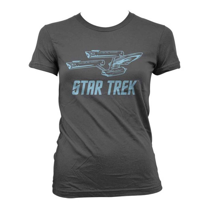 Star Trek - Enterprise Ship dames T-shirt grijs - Superhelden Televisie merchandise