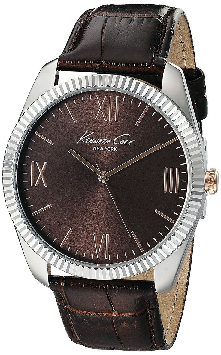 Kenneth Cole New York Men's 10019681 Silver-Tone Watch with Brown Dial and Brown Strap * Click image to review more details. (This is an Amazon Affiliate link and I receive a commission for the sales)