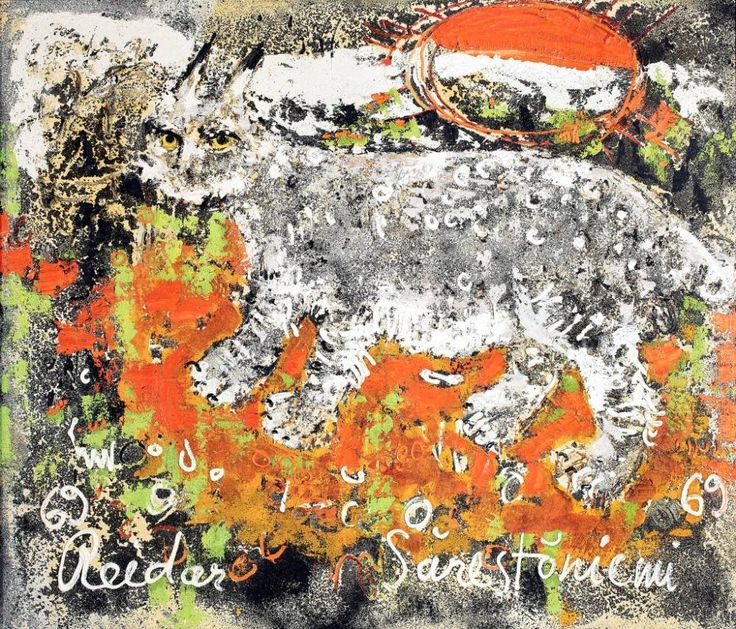 Reidar Särestöniemi (1925-1981); Finnish artist: Ilves (Lynx)