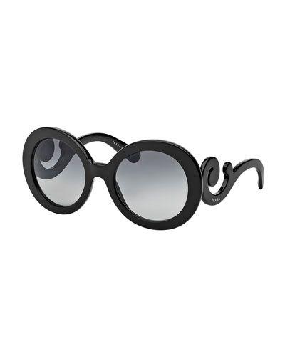 • Prada Baroque Sunglasses in Black | Neiman Marcus •
