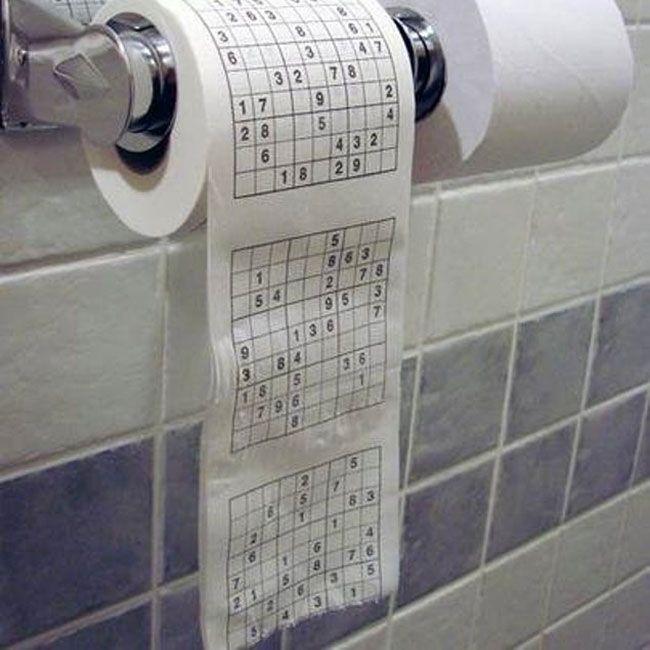 Туалетная бумага с изображением  головоломки Судоку #СУДОКУ #ТУАЛЕТНАЯБУМАГА #ТУАЛЕТ