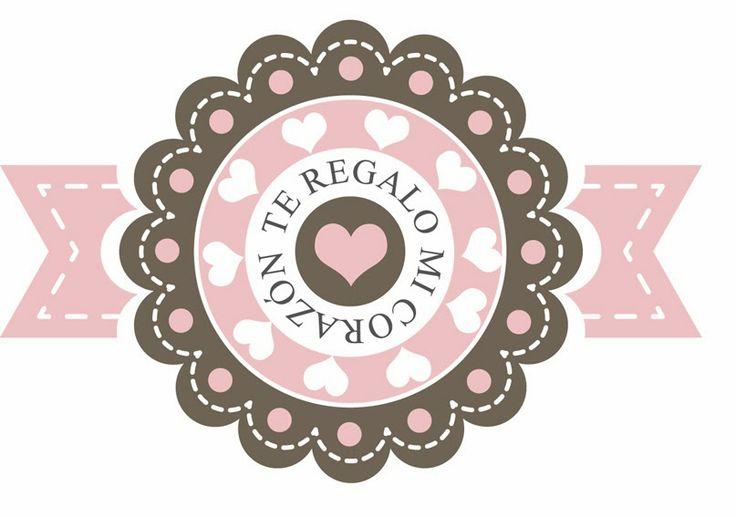 Etiquetas descargables especial San Valentin o ¡San Queremos! | Decorar en familia | DEF Deco. Te regalo mi corazón.
