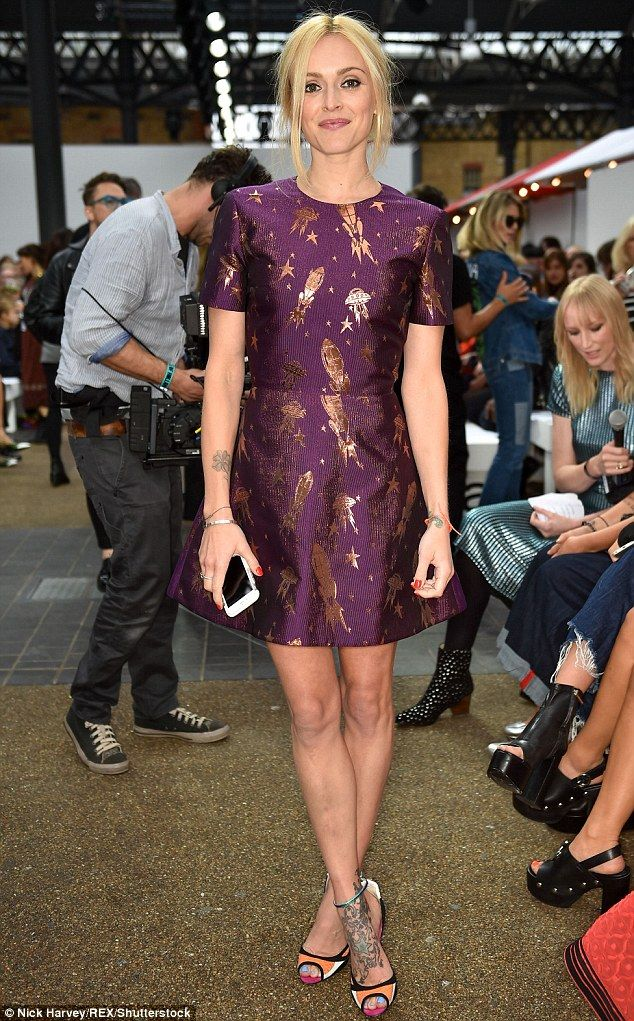 Purple power:Fearne Cotton scored one of the best seats in the house in a…