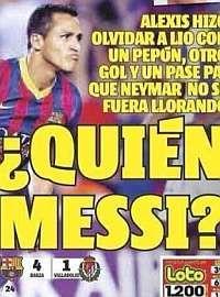 """""""¿Quién es Messi?"""", la prensa chilena arropa a Alexis - MARCA.com"""
