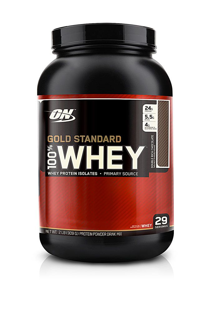 Optimum Nutrition Gold Standard 100% Whey Double Rich Chocolate -- 2 lbs - Vitacost