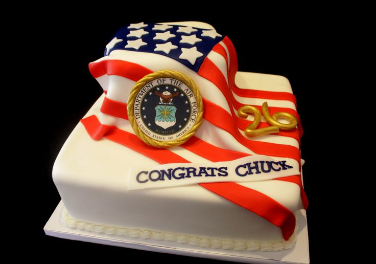 Air Force Retirement cake - American Flag