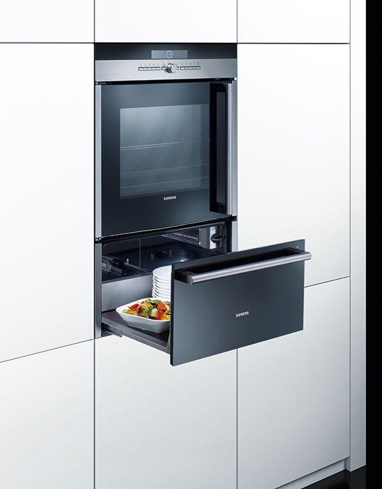 Warming drawers: ideal for preheating #dishes and keeping #food warm. // #Waermeschubladen: ideal zum Vorwärmen von #Geschirr und Warmhalten von Speisen. #enjoysiemens