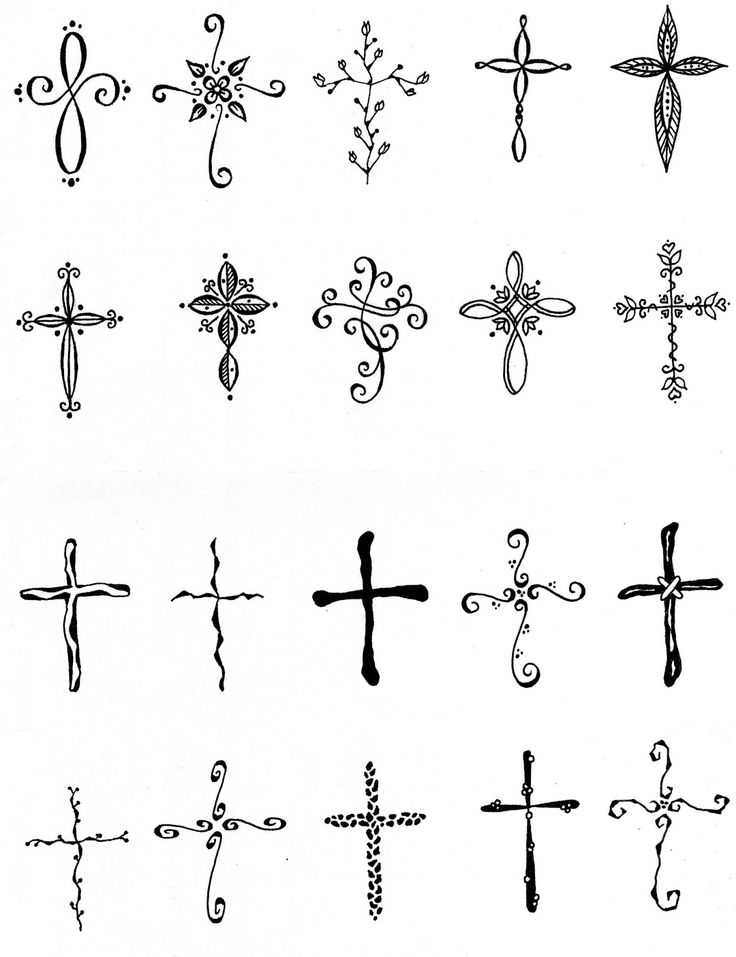 EmBound: Cross Tattoos - I like the upper left-hand corner one & second from the right in the second row.