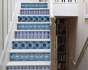 Kitchen/bathroom backsplash Tile/Wall/stair decal : by Bleucoin