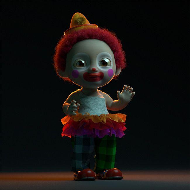 Just a Clown., Martin Guldbaek on ArtStation at https://www.artstation.com/artwork/4kwEY