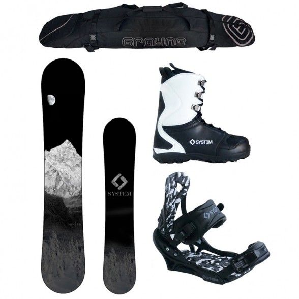 X-Mas 2017 System MTN and APX Complete Men's Snowboard Package $356 and tickets to sugar mountain