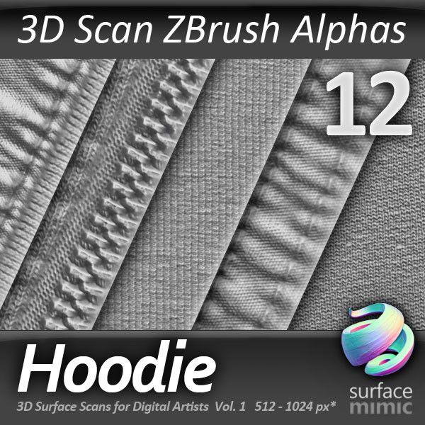 Texture psd hoodie alpha zbrush