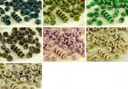 40pcs Picasso Czech Glass Small Bell Flower Bead Caps 7mm x 5mm