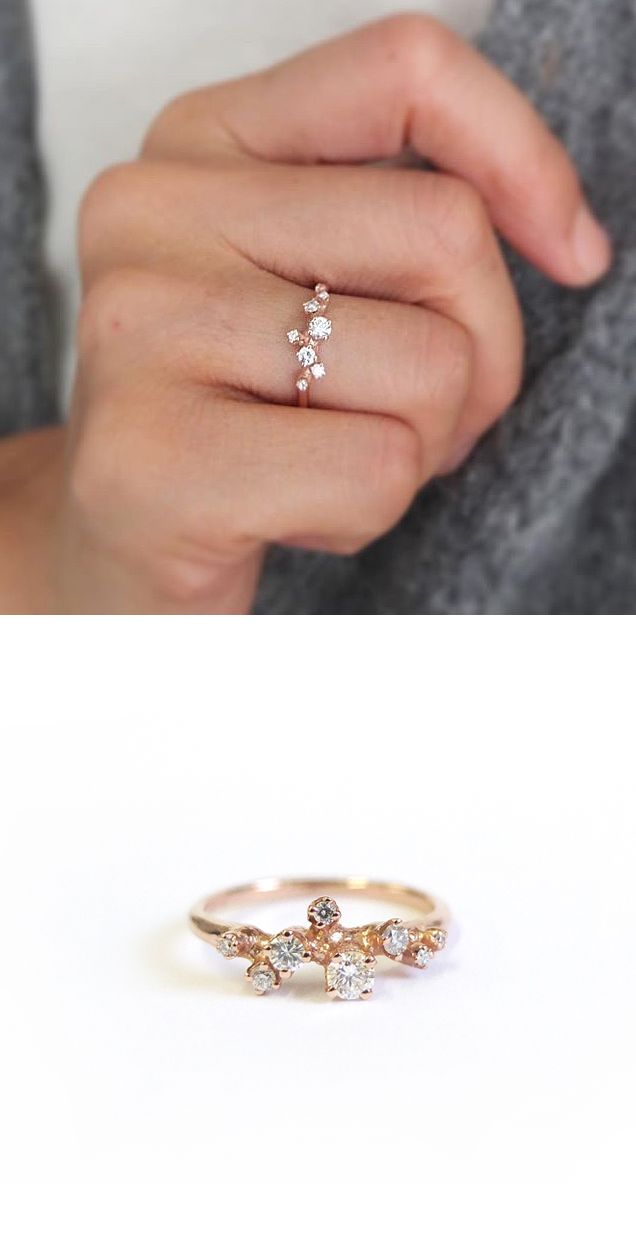 nandanewyork: R057 14K Rose Gold with 0.3ct...