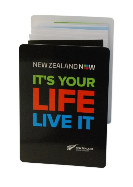 New Zealand Immigration use Z-CARD® to promote the benefits of living in the country.