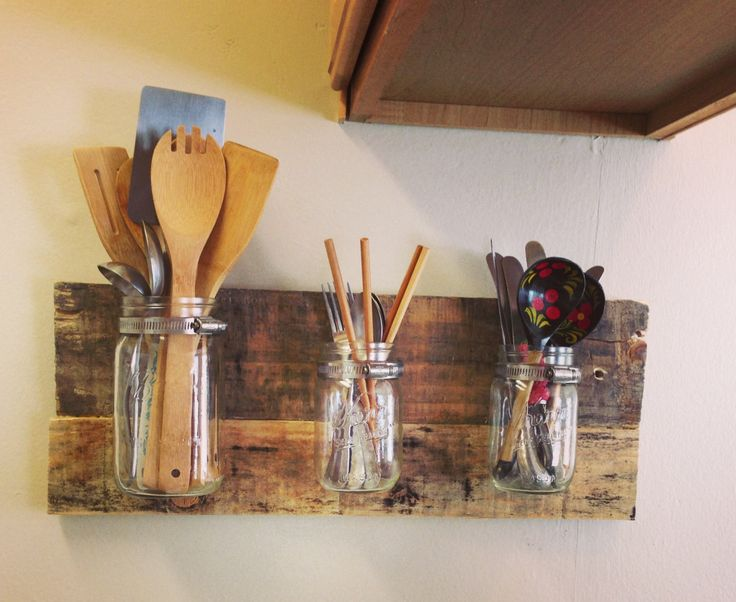 Mason Jar Wall Organizer by weRcubed on Etsy, $30.00