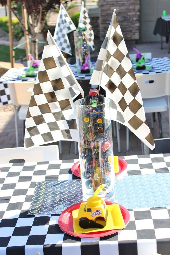 Boy's Monster Truck birthday Birthday Party Ideas   Photo 24 of 115   Catch My Party