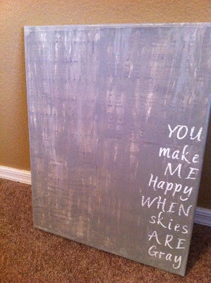 DIY Canvas Art-  would look cool with a vintage framed photograph.