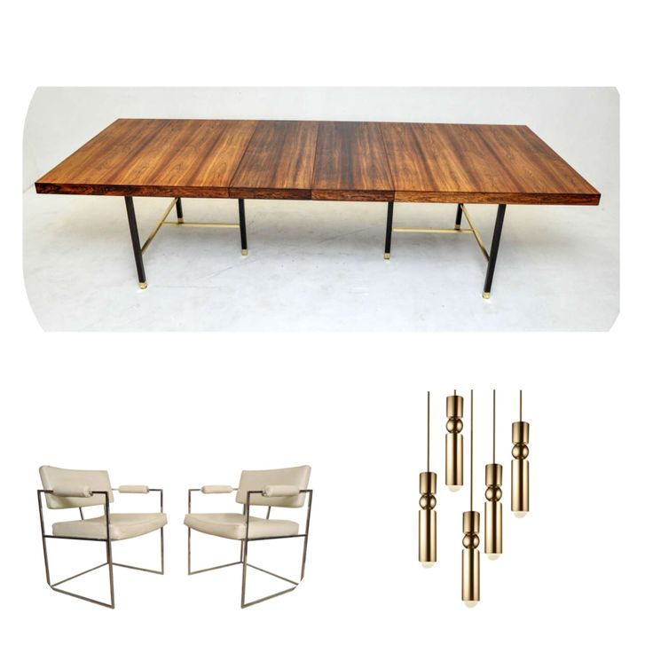 Perfect dining room combination found on 1rst dibbs for Sleek dining room tables