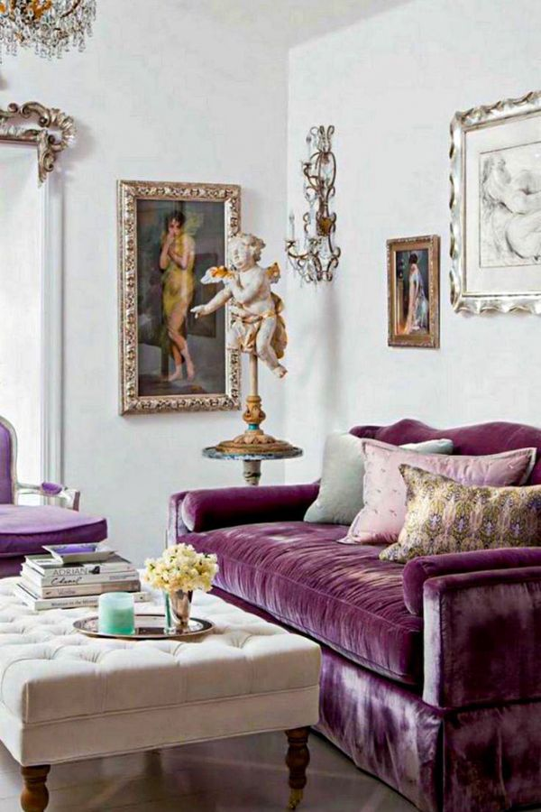 How To Match A Purple Sofa To Your Living Room Decor Purple Living Room Small Living Room Layout Cute Living Room
