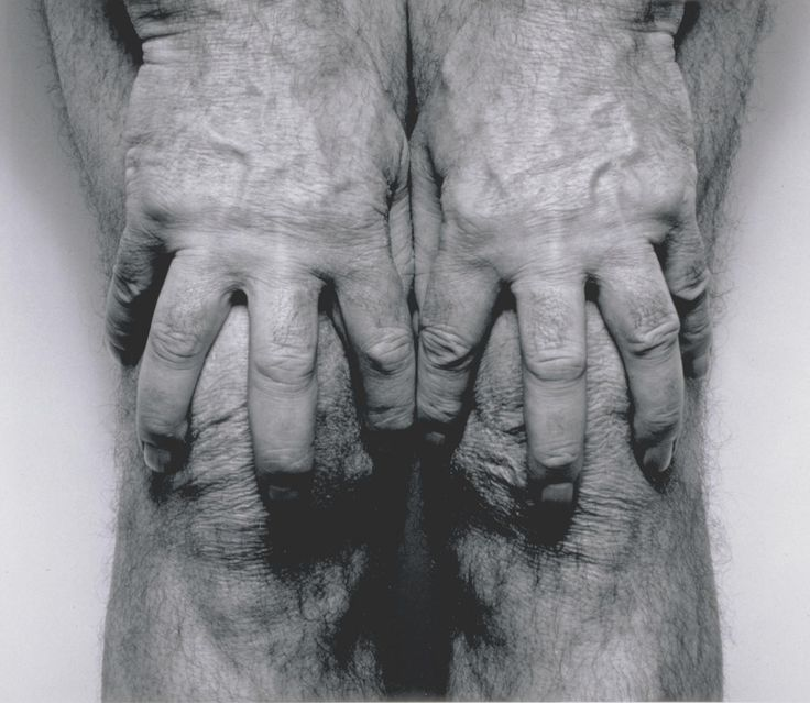 John Coplans, 'Self-Portrait (Hands Spread on Knees)' 1985