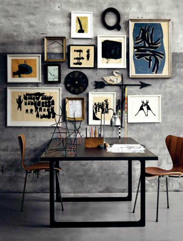 Modern meets Mid-Century with this gallery wall.