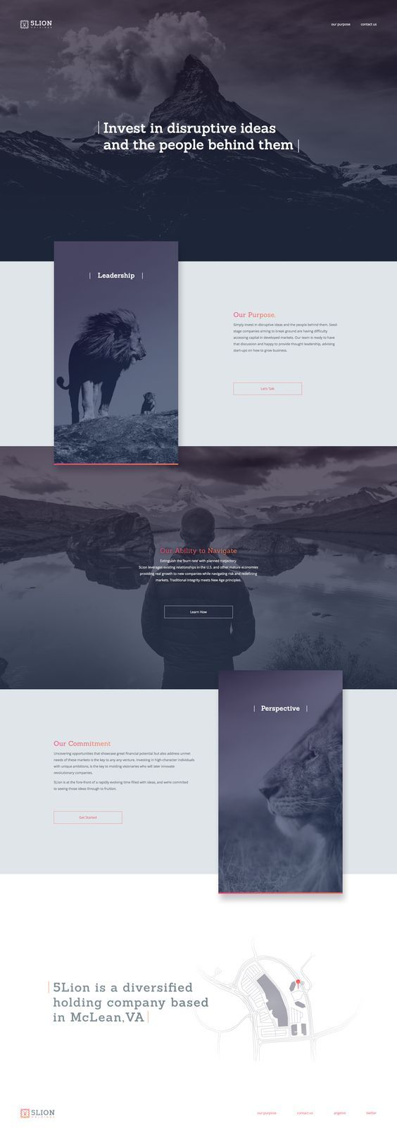 Dribbble minimal layout web design elegant web design