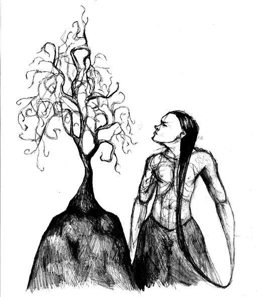 Pencil drawing. Saara Kartimo.