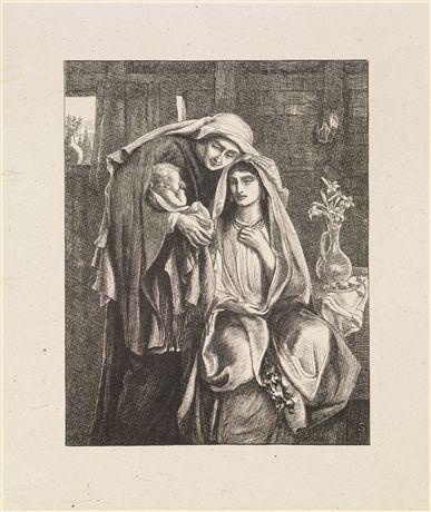 Naomi and the Child Obed by Simeon Solomon