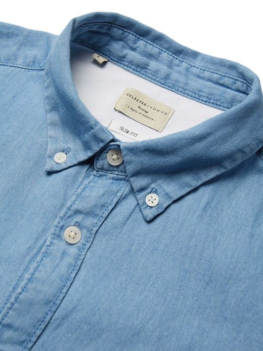 SLIM FIT DENIM SHIRT, Light Blue Denim