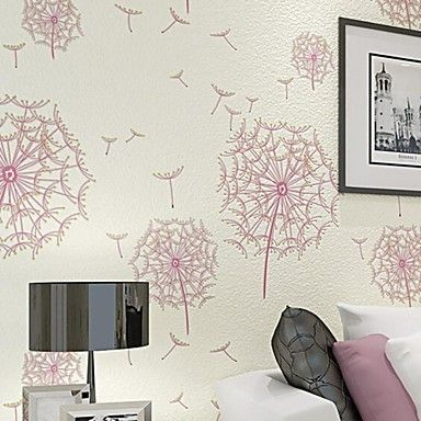 10m*0.53m 3D Pile Coating Thickening Wallpaper Dandelion Breathe Freely  Environmentally Friendly Z178 – AUD $ 77.21