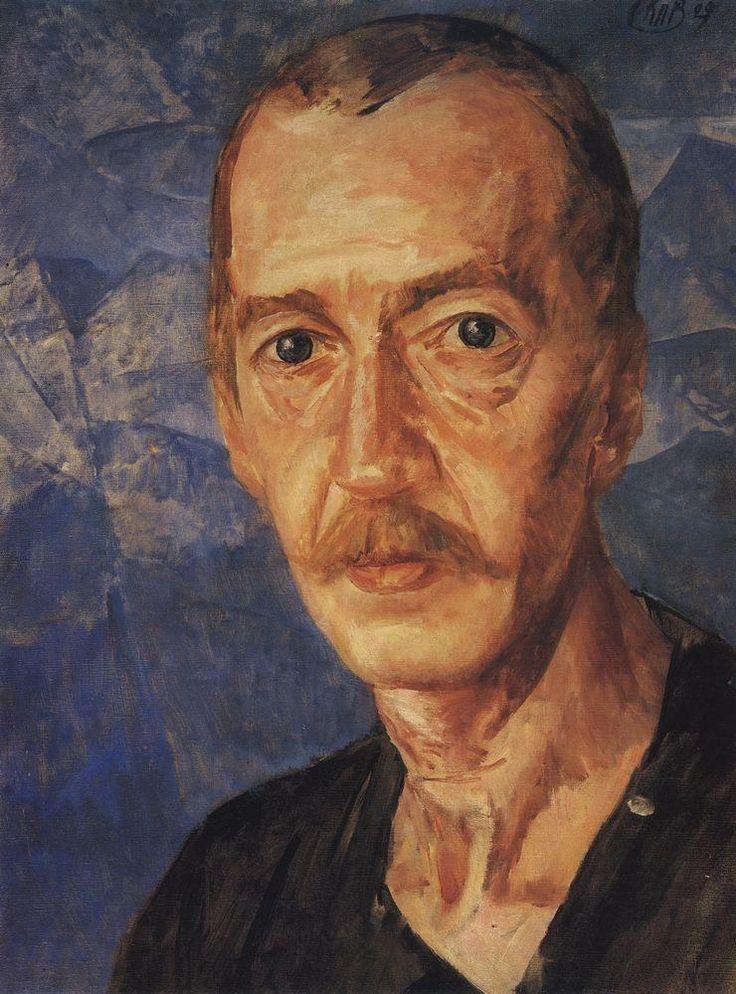 Portrait S.D. Mstislavsky - Kuzma Petrov-Vodkin