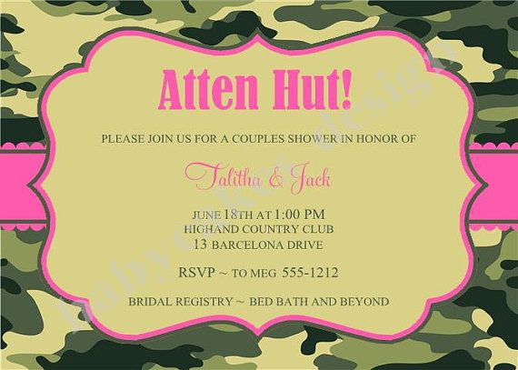 Army Wedding Invitations: 17 Best Images About Military Bridal Shower On Pinterest