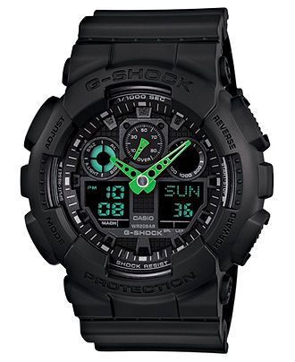 G-Shock Watch, Men's Analog-Digital Black Resin Strap 51x55mm GA100C-1A3 - Watches - Jewelry & Watches - Macy's