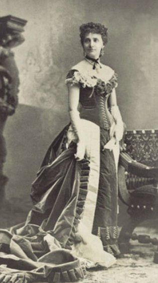 First fashion model - Marie Vernet Worth. While working for Parisian drapers Gagelin and Opigez in the late 1840s, she modeled small items like bonnets and shawls for the shop's wealthier clients. In 1851, she married fellow employee Charles Frederick Worth (future father of haute couture) who was interested in clothing and designed beautiful dresses for his wife with a simplicity that defied the trends of the day. Wealthy female patrons began requesting copies and the rest is fashion…