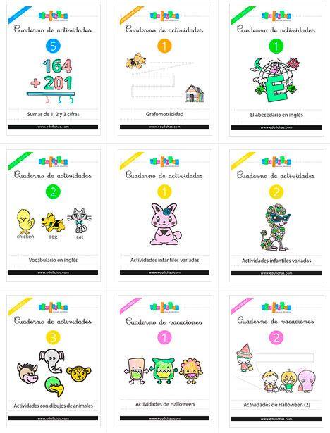 Cuadernos de actividades  http://www.edufichas.com/cuadernos-actividades/  #pdf #imprimir #printable #forkids #cuadernos #actividades #educativo